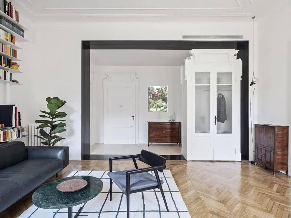An expanded entryway gives the apartment a much bigger feel from the second you step inside.