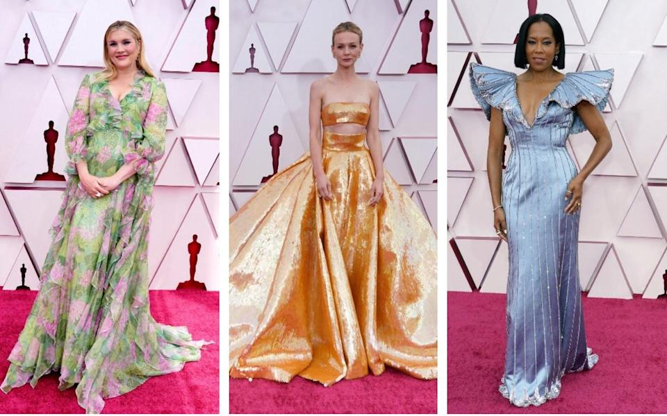 Emerald Fennell, Carey Mulligan and Regina King on the 2021 Oscars red carpet