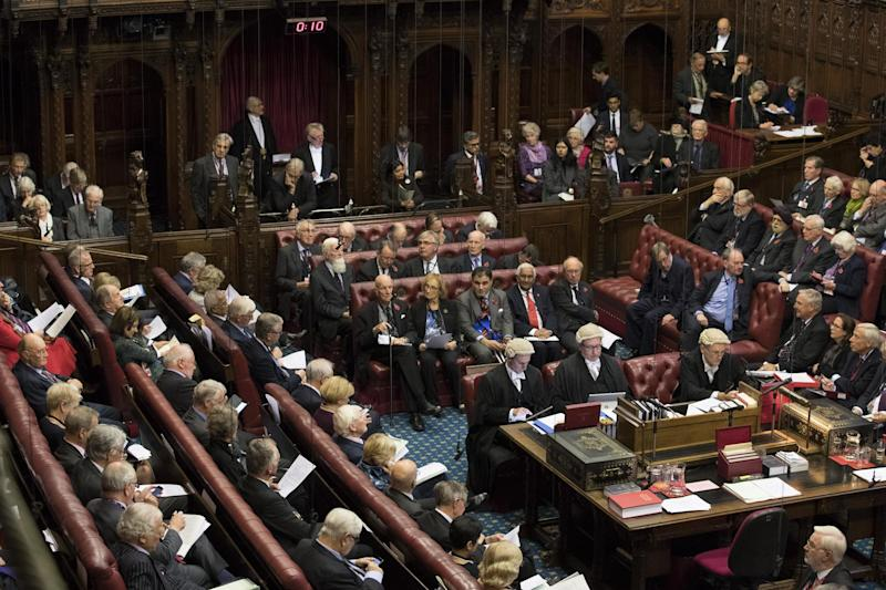 The House of Lords chamber sits in session: Getty Images