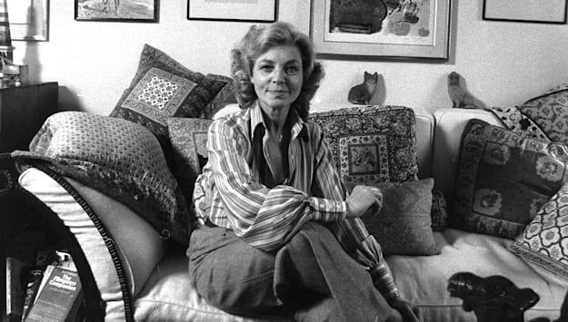 Lauren Bacall at her home in the Dakota at 1 West 72 Street,