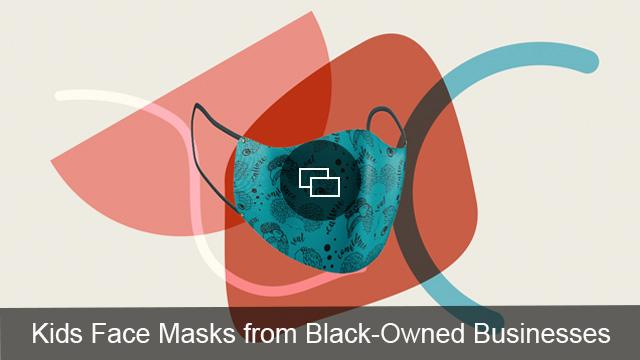 kids face mask black owned brands