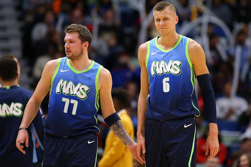Luka Doncic and Kristaps Porzingis will fear few playoff matchups. (Jonathan Bachman/Getty Images)