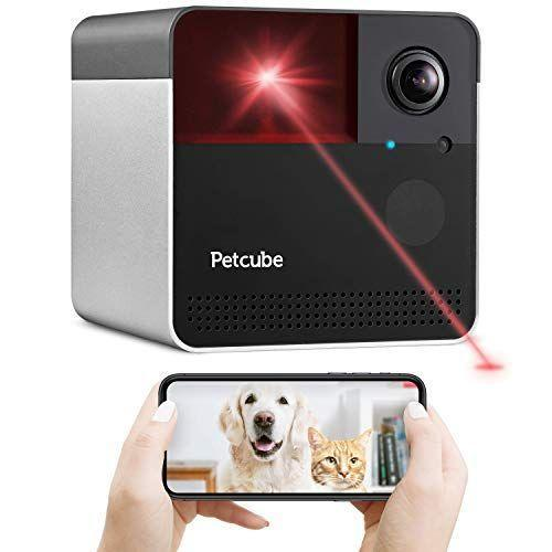 """<p><strong>Petcube</strong></p><p>amazon.com</p><p><strong>$149.00</strong></p><p><a href=""""https://www.amazon.com/dp/B07R3G87RG?tag=syn-yahoo-20&ascsubtag=%5Bartid%7C10055.g.34620165%5Bsrc%7Cyahoo-us"""" rel=""""nofollow noopener"""" target=""""_blank"""" data-ylk=""""slk:Shop Now"""" class=""""link rapid-noclick-resp"""">Shop Now</a></p><p>With a sleek cube design, this Wi-Fi enabled camera features<strong> 1080p HD video, 160º wide-angle view, and night vision. </strong>Get up close to your pets with 4x digital zoom and talk to your pet from anywhere with convenient two-way audio and get real-time notifications for sound and motion alerts. The PetCube Play 2 also features a laser pointer and built-in Alexa assistant so you can play music, hear the news, control your smart-home devices, or order your pet's favorite treats. If preferred, <a href=""""https://www.amazon.com/Petcube-Camera-Dispenser-Full-Room-Monitor/dp/B07QZ4BWY1/?tag=syn-yahoo-20&ascsubtag=%5Bartid%7C10055.g.34620165%5Bsrc%7Cyahoo-us"""" rel=""""nofollow noopener"""" target=""""_blank"""" data-ylk=""""slk:PetCube Bites 2"""" class=""""link rapid-noclick-resp"""">PetCube Bites 2 </a>is a similar model that offers a treat dispenser instead of laser.</p>"""