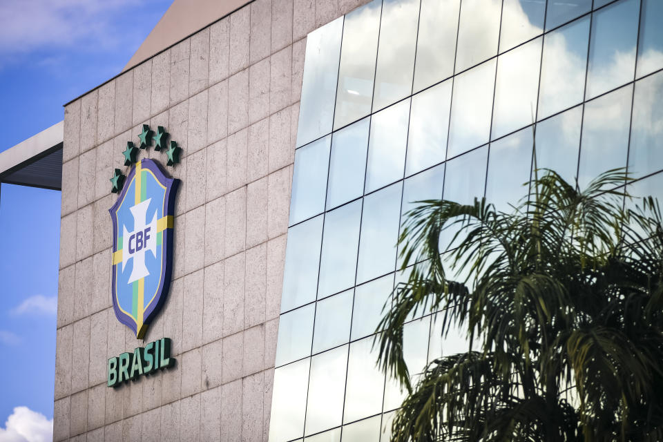 RIO DE JANEIRO, BRAZIL - JUNE 01: Facade of the Brazilian Football Confederation (CBF) headquarters on June 01, 2021 in Rio de Janeiro, Brazil. CONMEBOL announced on Monday May 31 that Brazil will host the next Copa America, initially scheduled to be played in Colombia and Argentina. Due to an ongoing social crisis, Colombia was removed as co-host earlier this month and Argentina was pulled out at the last minute as the country faces a surge in COVID-19 cases. (Photo by Buda Mendes/Getty Images)
