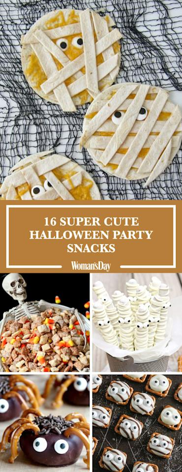 "<p>Save these Halloween snacks for later by pinning this image! Follow Woman's Day on <a rel=""nofollow"" href=""https://www.pinterest.com/womansday/"">Pinterest</a> for more for more great party ideas. </p>"