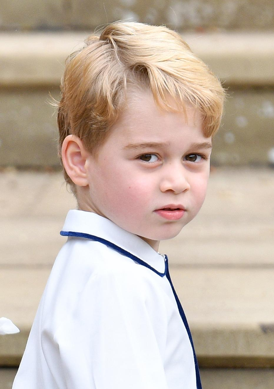 Prince George, aged five, at the wedding of Princess Eugenie and Jack Brooksbank in 2018 (Getty Images)