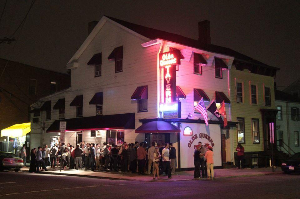 """<p>There's not visiting Rutgers without a night out at <a href=""""http://spoonuniversity.com/eat-out/45-iconic-college-bars-across-north-america/#rutgers/utm_source=delish&utm_medium=referral&utm_campaign=content-partnerships"""" rel=""""nofollow noopener"""" target=""""_blank"""" data-ylk=""""slk:Olde Queens Tavern"""" class=""""link rapid-noclick-resp"""">Olde Queens Tavern</a> <span class=""""redactor-invisible-space"""">— a local staple since 1933. Waiting in line is worth it when shuffle board, poker games, and 15 varieties of grilled cheese await inside.</span></p>"""