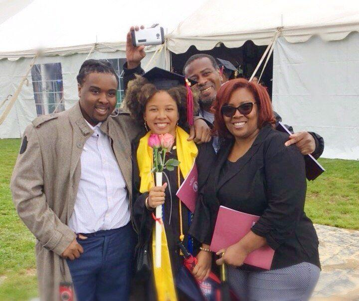 L'Tomay Douglas and her ex-partner at their daughterKitana's graduation, withL'Tomay's son,Melvin. (Photo: L'Tomay Douglas)