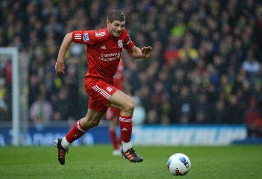 "Liverpool's Steven Gerrard during a Premier League match on April 28. Gerrard was adamant that while the club needs to ""address the problem"" of their league form, a win over Chelsea would allow the Merseysiders to look back on the season with pride"