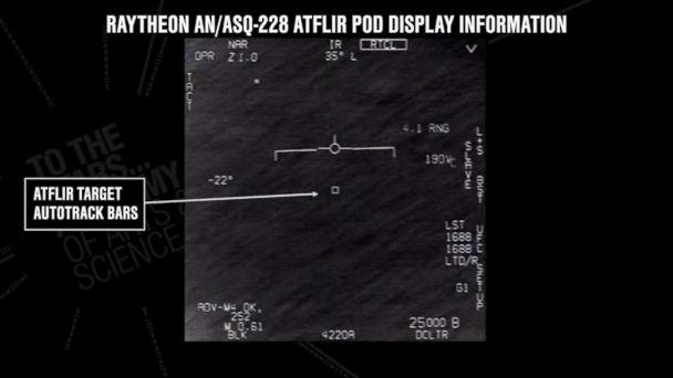 PHOTO: Video footage released by the To the Stars Academy of Arts and Science purportedly shows pilots observing a UFO while aboard a U.S. Navy aircraft. (To the Stars Academy of Arts and Science)