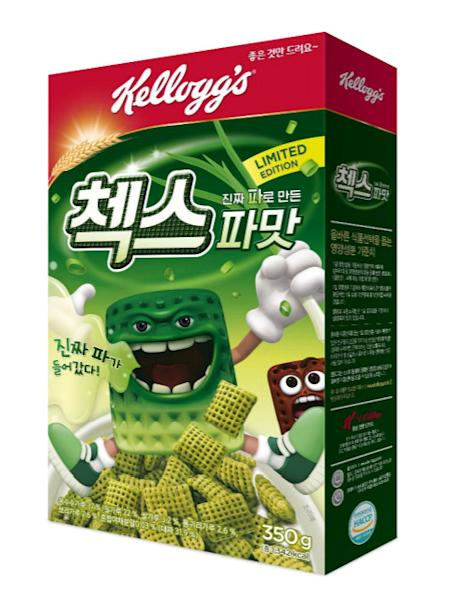 Handout photo of a promotional image for Kellogg's spring onion flavoured cereal