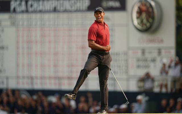 It was just like old times for Tiger Woods on Sunday at the PGA Championship. (AP)