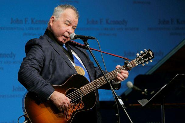PHOTO: Musician John Prine performs after accepting his PEN New England Song Lyrics of Literary Excellence Award during a ceremony at the John F. Kennedy Library in Boston, on Sept. 19, 2016. (Brian Snyder/Reuters, File)