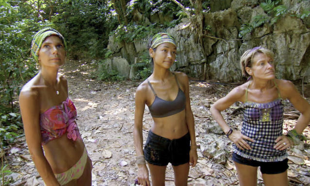 """""""Don't Say Anything About My Mom"""" - Sherri Biethman, Brenda Lowe and Dawn Meehan during the thirteenth episode of """"Survivor: Caramoan - Fans vs. Favorites."""""""