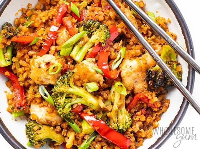 """<h2>15. Chicken Stir Fy</h2> <p>We could eat this one every night.</p> <p><a class=""""link rapid-noclick-resp"""" href=""""https://www.wholesomeyum.com/keto-chicken-stir-fry-recipe/"""" rel=""""nofollow noopener"""" target=""""_blank"""" data-ylk=""""slk:Get the recipe"""">Get the recipe</a></p>"""