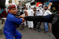 Indonesian Muslim group protest over the detention of Rizieq Shihab in Jakarta