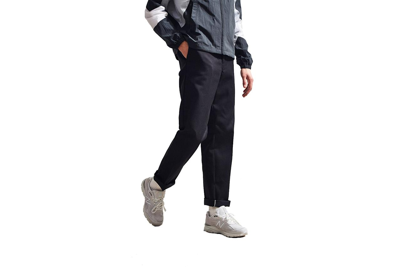 "$49, Urban Outfitters. <a href=""https://www.urbanoutfitters.com/shop/dickies-874-straight-pant?category=SHOPBYBRAND&color=001&quantity=1&type=REGULAR&cm_mmc=rakuten-_-affiliates-_-GQ-_-1&utm_medium=affiliates&utm_source=LS&utm_campaign=GQ&utm_term=720924&utm_content=1&ranMID=43176&ranEAID=FH3SVbKQdp0&ranSiteID=FH3SVbKQdp0-.JA7eAU1cOmrUISEdCHIJw"">Get it now!</a>"