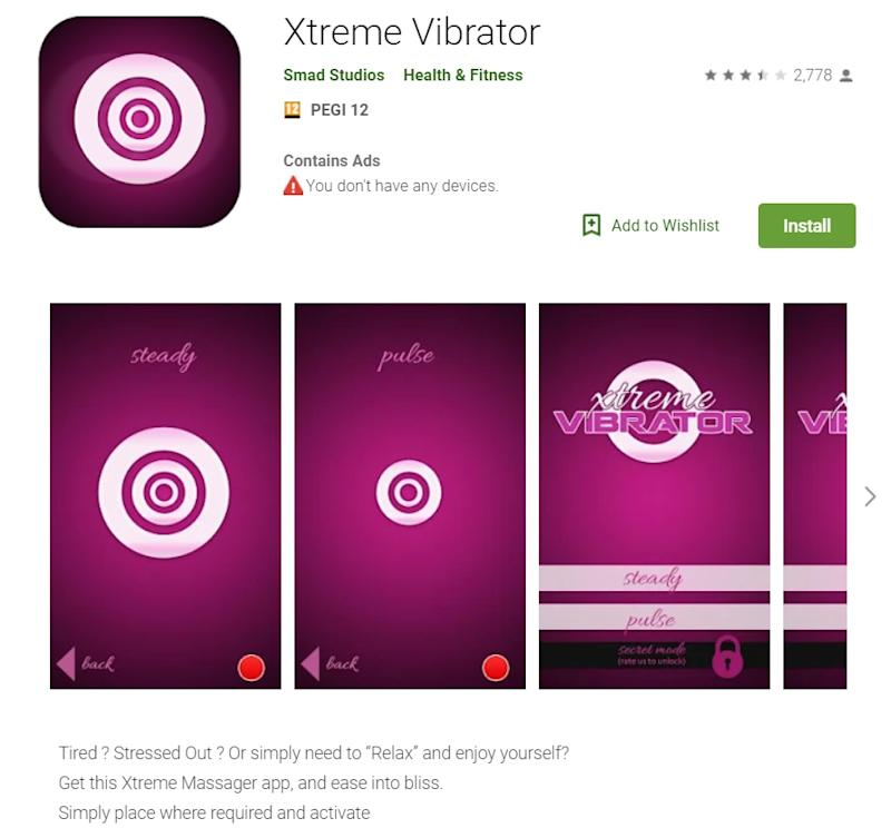 There are applications that turn your smartphone into a vibrator