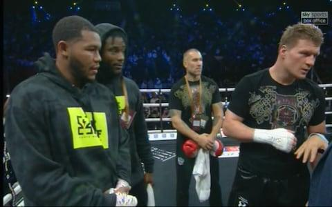 Hunter and Povetkin - Credit: Sky Sports PPV