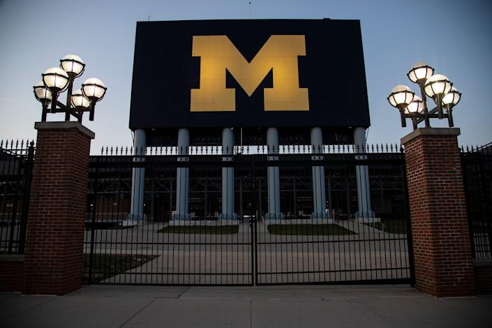 Michigan Stadium in Ann Arbor, Friday, April 3, 2020.