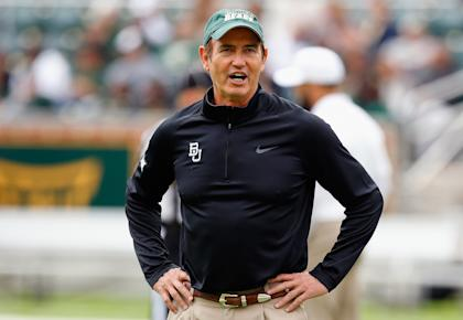 Baylor's Art Briles looks on before the Bears' win over TCU. (Getty)