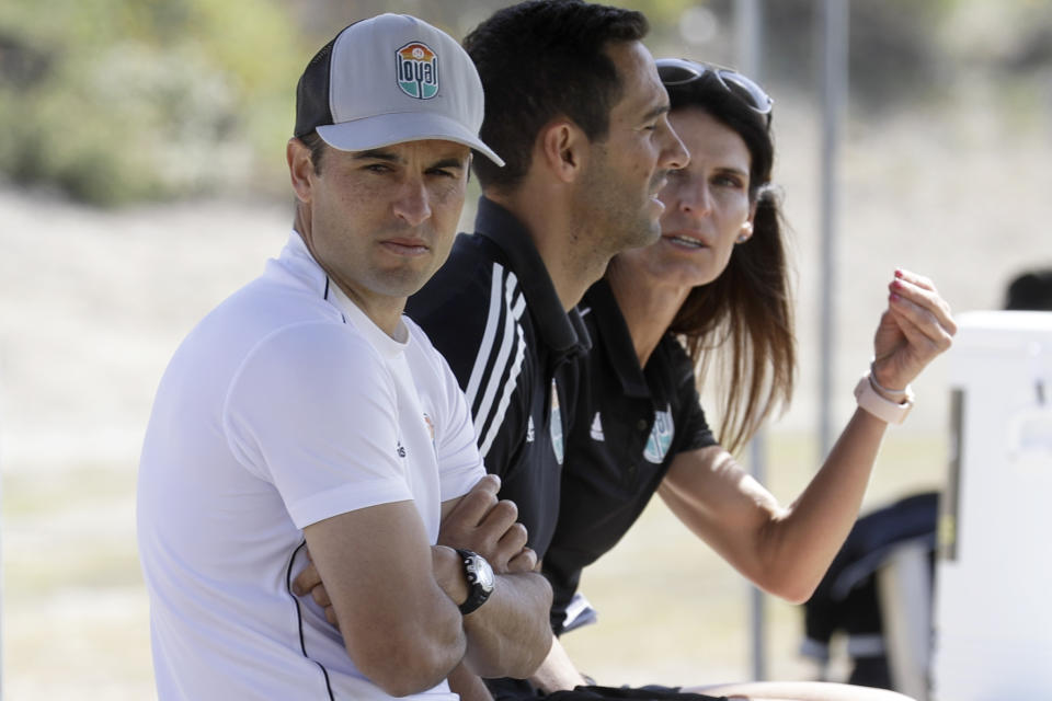 Landon Donovan and the San Diego Loyal will resume their USL Championship season on Saturday ... in front of thousands of fans in Utah. (AP Photo/Gregory Bull)