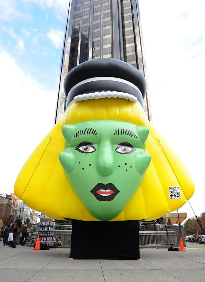 There was even a gigantic Lady Gaga balloon propped up at Columbus Circle to promote the special store. Too bad Barneys doesn't have its own Thanksgiving Day parade! (11/21/2011)