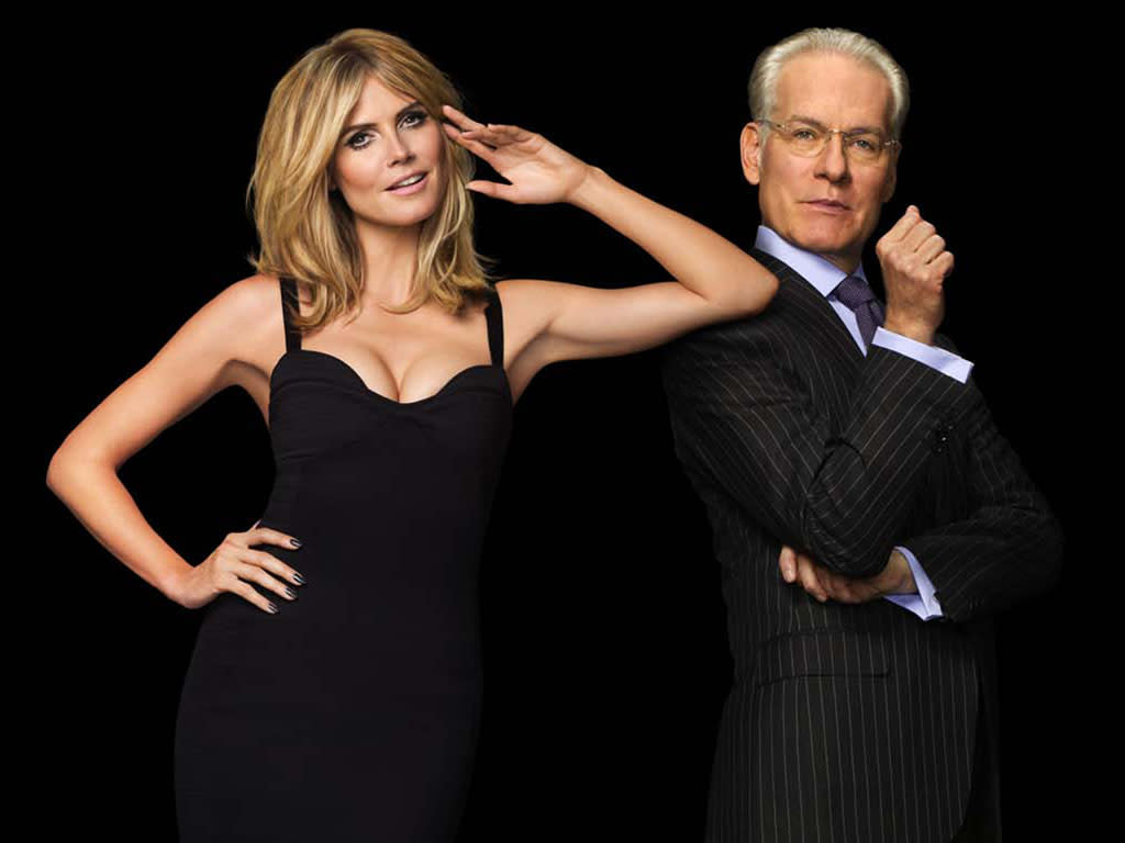 "Host Heidi Klum and mentor Tim Gunn are back for Season 10 of ""Project Runway."""