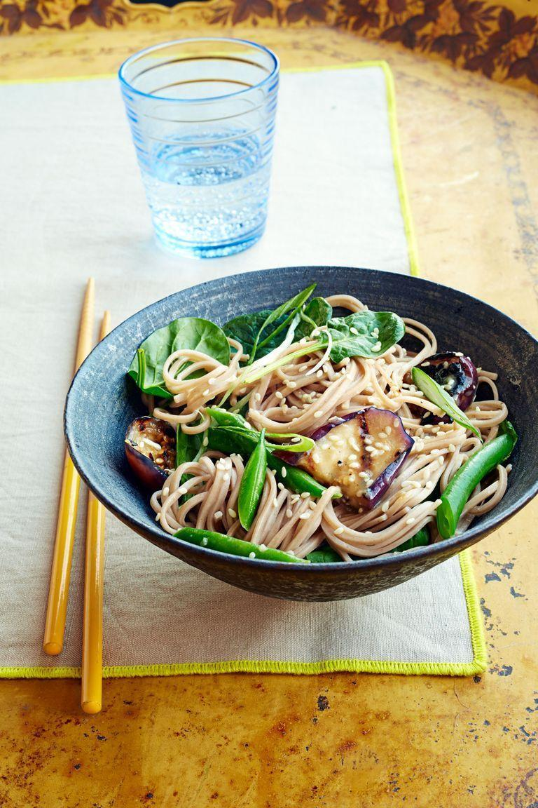 """<p>If you love Japanese food but have never tried to make it at home, this easy-to-make dish is perfect for beginners. </p><p><em><a href=""""https://www.womansday.com/food-recipes/food-drinks/recipes/a40022/soba-miso-glazed-eggplant-recipe-ghk0914/"""" rel=""""nofollow noopener"""" target=""""_blank"""" data-ylk=""""slk:Get the Soba with Miso-Glazed Eggplant recipe."""" class=""""link rapid-noclick-resp"""">Get the Soba with Miso-Glazed Eggplant recipe.</a></em></p>"""