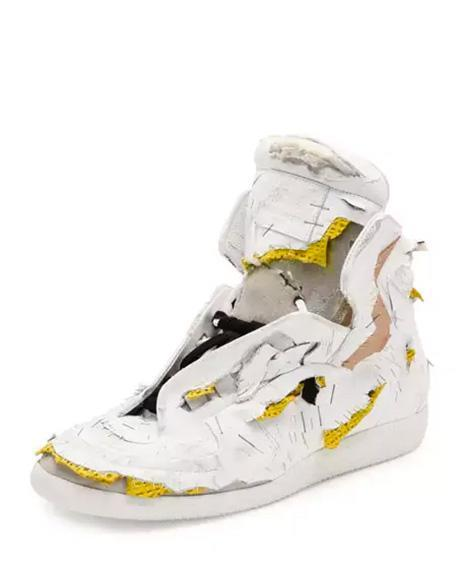 The Maison Margiela Future Destroyed High-Top Sneaker retails for $1,425. (Photo: Courtesy NeimanMarcus.com)
