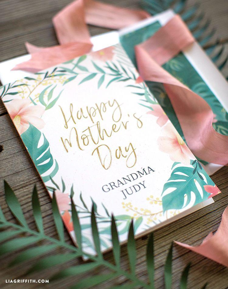 """<p>Know a mom with a green thumb? This botanical card will be the perfect way to tell wish them a happy Mother's Day! </p><p><strong>Get the printable at <a href=""""https://go.redirectingat.com?id=74968X1596630&url=https%3A%2F%2Fliagriffith.com%2Fprintable-mothers-day-card%2F&sref=https%3A%2F%2Fwww.thepioneerwoman.com%2Fholidays-celebrations%2Fg35668391%2Fdiy-mothers-day-cards%2F"""" rel=""""nofollow noopener"""" target=""""_blank"""" data-ylk=""""slk:Lia Griffith"""" class=""""link rapid-noclick-resp"""">Lia Griffith</a>. </strong></p><p><a class=""""link rapid-noclick-resp"""" href=""""https://www.amazon.com/Berwick-Offray-Double-Satin-Ribbon/dp/B00FN38N8U?tag=syn-yahoo-20&ascsubtag=%5Bartid%7C2164.g.35668391%5Bsrc%7Cyahoo-us"""" rel=""""nofollow noopener"""" target=""""_blank"""" data-ylk=""""slk:SHOP PINK RIBBON"""">SHOP PINK RIBBON</a></p>"""
