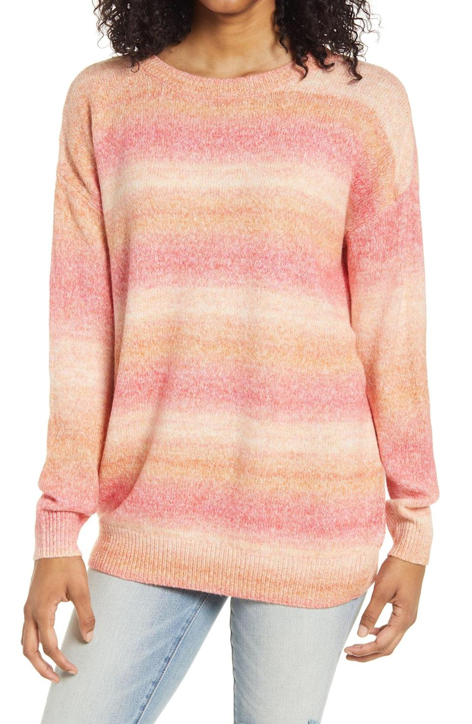 <p><span>BP. Space Dye Tunic Sweater</span> ($18, originally $45)</p>
