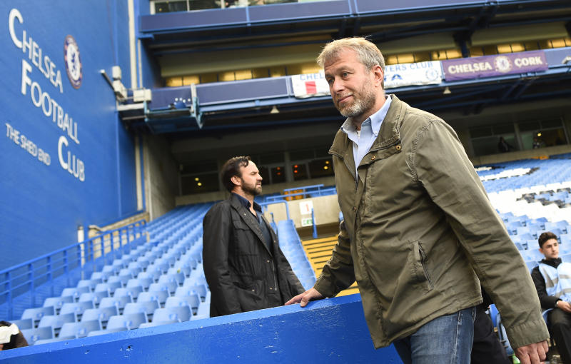 "Football - Chelsea v Crystal Palace - Barclays Premier League - Stamford Bridge - 3/5/15 Chelsea owner Roman Abramovich after celebrating winning the Barclays Premier League Reuters / Dylan Martinez Livepic EDITORIAL USE ONLY. No use with unauthorized audio, video, data, fixture lists, club/league logos or ""live"" services. Online in-match use limited to 45 images, no video emulation. No use in betting, games or single club/league/player publications. Please contact your account representative for further details."
