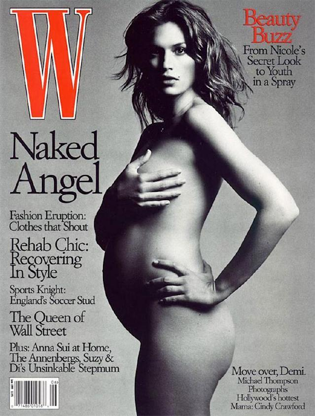 <p>Cindy Crawford on the cover of<em> W</em>, 1999 </p>