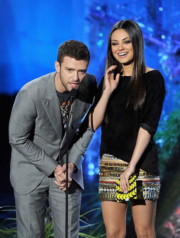"""<i>Life & Style</i> says """"It's on!"""" between Justin Timberlake and Mila Kunis. The mag reports that even though the """"Friends With Benefits"""" co-stars deny being romantically involved, """"They've hooked up,"""" and """"Justin wants more."""" Timberlake has been so smitten with Kunis since filming the movie, reveals the magazine, he'll """"do anything to make this work."""" For how serious they've become, and when they plan to come out as a couple, check out what a Timberlake confidante tells <a href=""""http://www.gossipcop.com/justin-timberlake-mila-kunis-dating-hooking-up-mtv-movie-awards- 2011/"""" target=""""new"""">Gossip Cop. Kevin Winter/<a href=""""http://www.gettyimages.com/"""" target=""""new"""">GettyImages.com</a> - June 5, 2011</a>"""