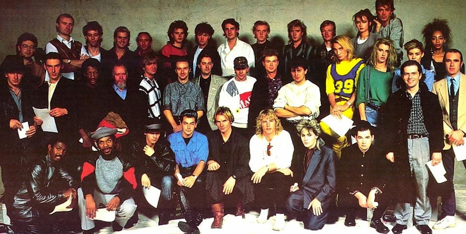 The cast of Band Aid in 1984. (Photo: Polydor)
