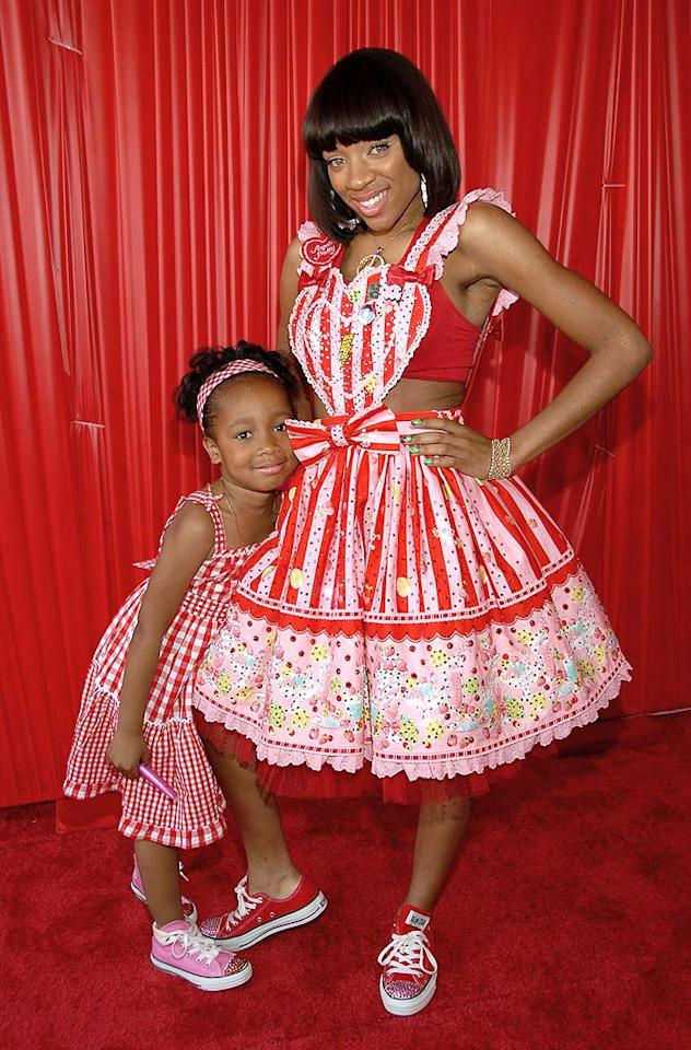 """The only thing sweet about this picture is Lil Mama's little friend. The rapper's ghastly getup is a slap in the face to Strawberry Shortcake. Frank Micelotta/<a href=""""http://www.gettyimages.com/"""" target=""""new"""">GettyImages.com</a> - June 24, 2008"""