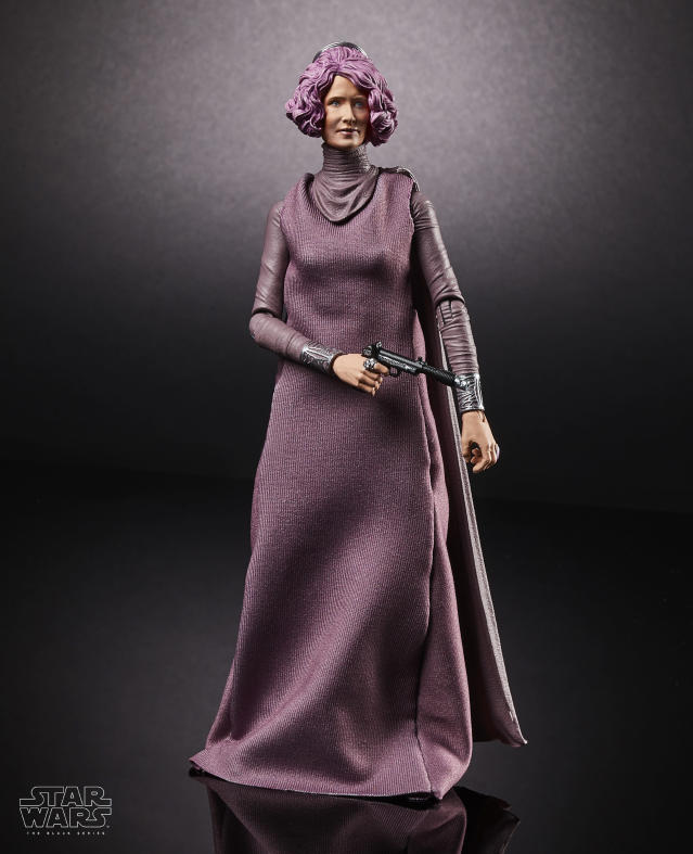 <p>She saved the Resistance, and now the heroic Admiral Holdo (RIP) anchors a new line of richly detailed Black Series 6-inch figures. (Photo: Hasbro) </p>
