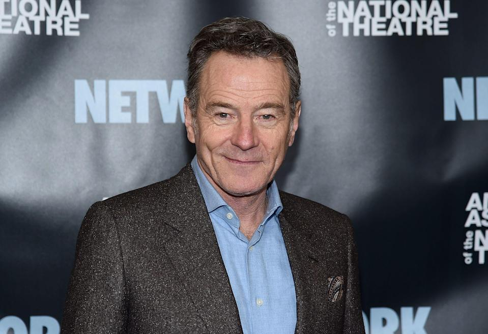 """Bryan Cranston has finally become """"a villain in the bizzaro underworld o"""" Donald Trump. The Breaking Bad and Sneaky Pete actor is portrayed as a Trump nemesis in a weird new Trump 2020 campaign video. (Photo: Getty Images)"""