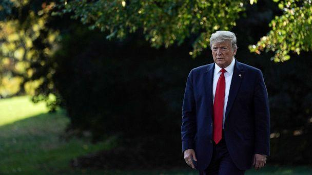 PHOTO: President Donald Trump across the South Lawn of the White House, Sept. 16, 2019. (Sarah Silbiger/Reuters, FILE)