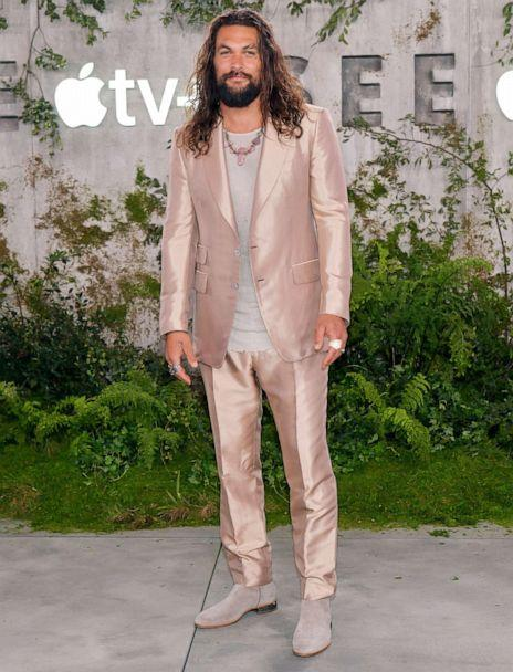 PHOTO: Jason Momoa attends the world premiere of Apple TV+'s 'See' at Fox Village Theater on Oct. 21, 2019, in Los Angeles. (Rodin Eckenroth/FilmMagic/Getty Images)