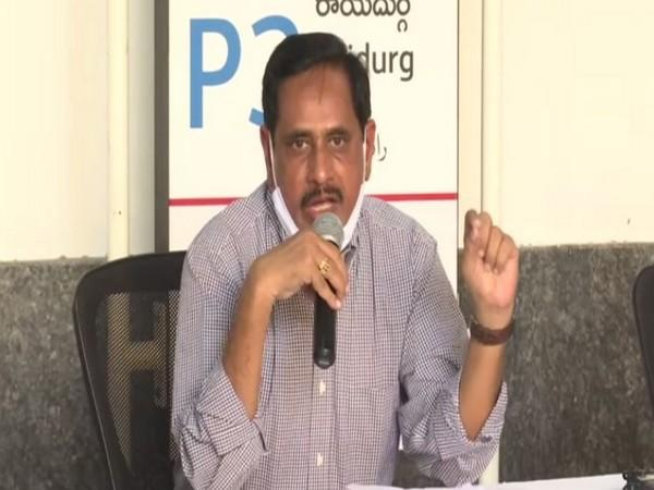 N.V.S Reddy, Managing Director of Hyderabad Metro Rail Limited (Photo/ANI)