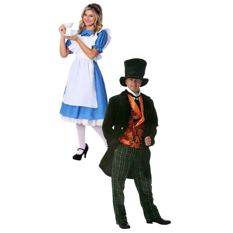 """<p>Although there are many characters to choose from the movie <em>Alice in Wonderland</em>, the most iconic have to be Alice and the Mad Hatter. </p><p><a class=""""link rapid-noclick-resp"""" href=""""https://go.redirectingat.com?id=74968X1596630&url=https%3A%2F%2Fwww.halloweencostumes.com%2Fdeluxe-adult-mad-hatter-costume.html&sref=https%3A%2F%2Fwww.womansday.com%2Fstyle%2Fg28691602%2Fdisney-couples-costumes%2F"""" rel=""""nofollow noopener"""" target=""""_blank"""" data-ylk=""""slk:SHOP MAD HATTER COSTUME"""">SHOP MAD HATTER COSTUME</a></p><p><a class=""""link rapid-noclick-resp"""" href=""""https://go.redirectingat.com?id=74968X1596630&url=https%3A%2F%2Fwww.halloweencostumes.com%2Fdeluxe-plus-alice-costume.html&sref=https%3A%2F%2Fwww.womansday.com%2Fstyle%2Fg28691602%2Fdisney-couples-costumes%2F"""" rel=""""nofollow noopener"""" target=""""_blank"""" data-ylk=""""slk:SHOP ALICE COSTUME"""">SHOP ALICE COSTUME</a> </p>"""