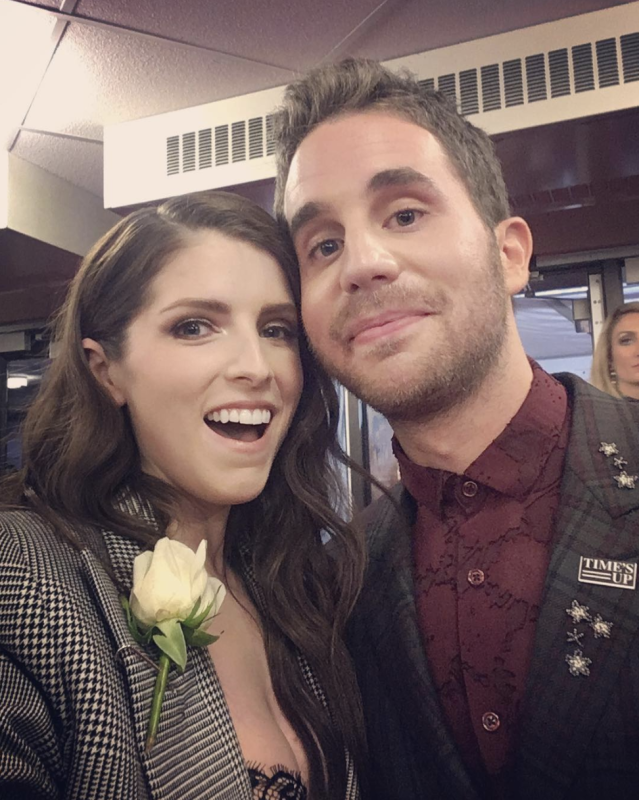 "<p>It was a <em>Pitch Perfect</em> reunion in so many ways, as Kendrick got a hug in with her former co-star, Ben Platt. ""Look what I found #GRAMMYs,"" she captioned this cute shot. Platt brought down the house at the Grammys on Sunday, as he paid tribute to legendary composer Leonard Bernstein with the ballad ""Somewhere"" from <em>West Side Story. </em>(Photo: <a href=""https://www.instagram.com/p/BehiMG2FR6U/?taken-by=annakendrick47"" rel=""nofollow noopener"" target=""_blank"" data-ylk=""slk:Anna Kendrick via Instagram"" class=""link rapid-noclick-resp"">Anna Kendrick via Instagram</a>) </p>"