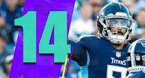 <p>The Titans looked terrible in the first half against a bad Jets team, then rallied in the second half and won in the final couple minutes. That's symbolic of how wildly unpredictable this team is. Yet, they're still alive. (Marcus Mariota) </p>