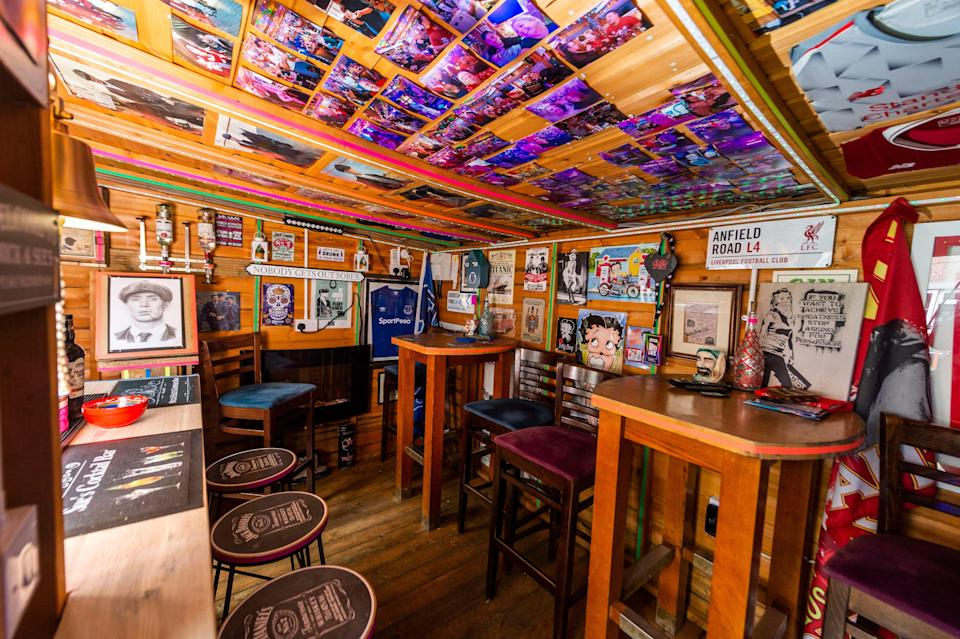 Mick and Sue's Peaky Blinders Bar, in Kirkby near Liverpool, has been shortlisted in the pub category (Alex Cousins/PA Wire)