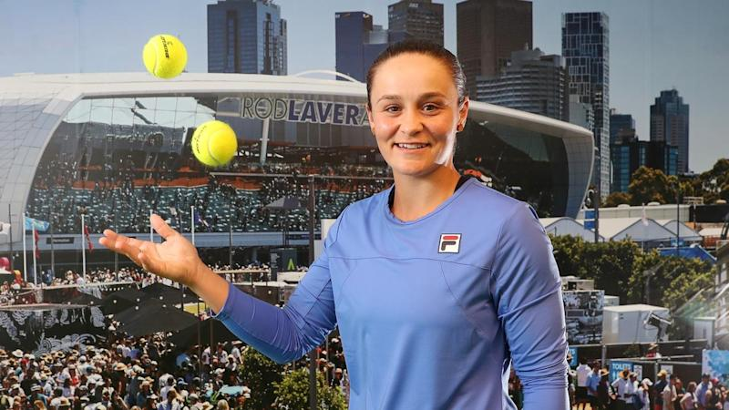 "Ashleigh Barty is ""a bit sick"" of seeing her face everywhere and ready to start the Australia Open"