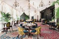 "<p>The ultra-dreamy <a href=""https://www.thenomadhotel.com/new-york/"" rel=""nofollow noopener"" target=""_blank"" data-ylk=""slk:NoMad Hotel"" class=""link rapid-noclick-resp"">NoMad Hotel</a> is offering a vibrant and luxurious spin on outdoor winter dining with an all-weather tent (accented with fabulous light fixtures) and blankets for every guest. It's the perfect spot to enjoy a Valentine's Day dinner for two this winter, as The Rooftop is offering a glorious pre-fixe menu to help you best celebrate the occasion with the person you love most. </p>"