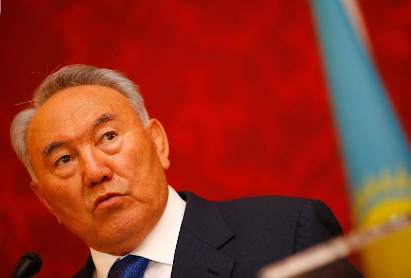 Kazakhstan President Nursultan Nazarbayev set early elections for April 26 in a move that will almost certainly see the septuagenarian leader re-elected for another term (AFP Photo/Alexander Klein)