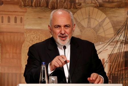 FILE PHOTO: Iranian Foreign Minister Mohammad Javad Zarif speaks during a news conference in Istanbul